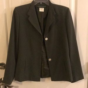 Jackets & Blazers - Dark green blazer with white opal colored buttons